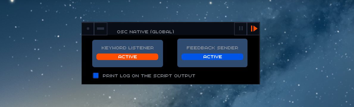 The activated native OSC module